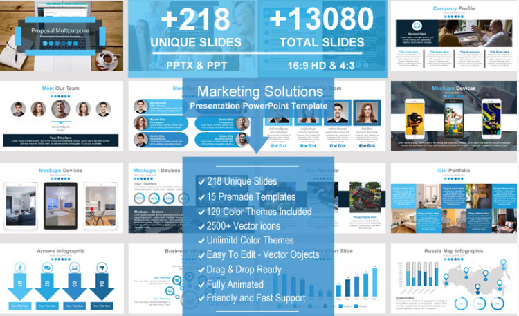 Marketing Solutions 101 powerpoint template