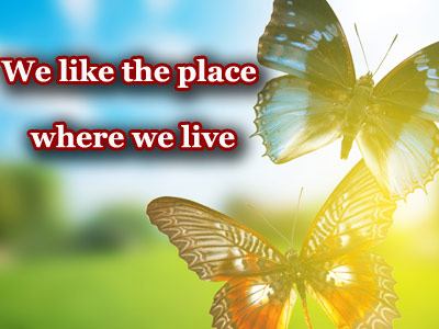 Презентация на тему We like the place where we live